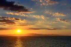 Halkidiki Sunrise (Yannis_K) Tags: halkidiki greece afytos sunrise sky clouds color colors colour colours blue orange yellow yannisk nikond7100 nikon35mmf18dx