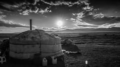 Yurta Black and White (davidebed) Tags: black white mongolia sky yurta sony sonya7 alpha sun sole