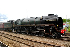 """Railways - 71000 'Duke of Gloucester' departing from Gloucester at the head of the returning """"The Midland Tornado"""" rail tour (Biffo1944) Tags: railway steam standard """"class 8"""" 462 71000 """"duke gloucester"""" gloucester """"the midland tornado"""" 175d807597"""