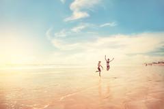 Sun & Fun (yulia.starostina) Tags: sun beach noon fun kids sky kidsphotography yuliastarostinaphotography yuliastar london ontario cocoa photoshop manipulations colour jumping