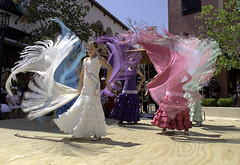 Shawls 4 (dcnelson1898) Tags: santabarbara california centralcoast coast 2016oldfiestadays dancing flamenco girls costumes ethnic spanish dress festival spiritoffiesta