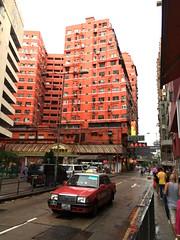 Hong Kong 2016 (mauxditty) Tags: orange red taxi cab hongkong yaumatei building architecture china kowloon