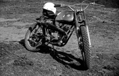 1960's Hodaka Ace 90 (Lee Sutton) Tags: vintage dirt bike 1960s hodaka ace 90 motocross endure play scrambles black white film