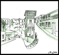 Croquis Valparaiso ( Niels Len  Ilustracin - sketch/Portafol) Tags: draw drawing colores color dibujo chile santiago art arte acuarela watercolor acrlico ilustration ilustracion work urban urbano city ciudad animales animals