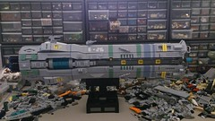 SHIPtember WIP day 19 (SweStar) Tags: shiptember 2016 lego scifi ship space spaceship community build exodus