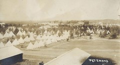 C.1909 Real Photo Postcard - Early View of Central Camp (Petewawa) Petawawa, Ontario (WhiteRockPier) Tags: centralcamppetawawa petawawa petewawa camp camppetawawa military militia training ontario tents stables horse troops soldiers