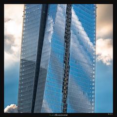 Sarona Sky and Clouds (Ilan Shacham) Tags: architecture contemporary windows abstract reflection sky clouds blue tower corkscrew telaviv israel fineart fineartphotography azrieli sarona sharona