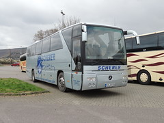 DSCN0643 Scherer Reisen Omnibusgesellschaft mbH, Gemnden SIM-SR505 (Skillsbus) Tags: buses coaches germany mercedes tourismo scherer