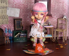 Folk's Heart #9 (Arthoniel) Tags: folk summoner lati latidoll latiyellow tan limited pharaohscurse doll bjd balljointeddoll collection diorama ooak laboratory roombox dollhouse rement callcifer howlsmovingcastle fire miniature tiny toy figure elf denaliwind custom faceup