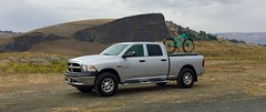 My new rig.....jack of all trades. (Doug Goodenough) Tags: dodge ram ecodiesel 1500 crew cab silver 2016 16 september sept truck pickup vehicle auto chrome bike stache trek drg53116 drg53116p