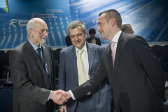 José Viegas, Secretary-General-elect of the International Transport Forum is congratulated at the Summit