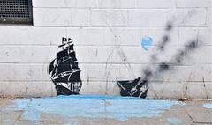 HH-Stencil 352 (cmdpirx) Tags: urban streetart color colour art cutout painting fun one graffiti stencil paint hamburg humor can spray layer multiple hh farbe schablone strassenkunst