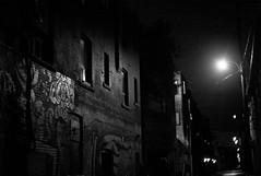Noir alley (j-riviere) Tags: street nightphotography bw toronto canada photography alley noir streetlights nokton40mm14 explored leicam8
