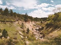 Waterfall VSCO Film (SaigoDon) Tags: statepark walking spring colorado hiking dam burst crumbling cherrycreek castlewoodcanyon 645pro snapseed vscofilm mapmywalk:route=87797801