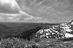 Mountain Top (andrewpug) Tags: blackandwhite white mountain black ski high top altitude mountaintop
