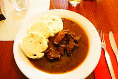 Gulasch:beef stew with bread in Czech (eiku suyama) Tags: czech prague praha   suyama eiku