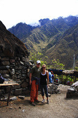 Stace and I - Start of the Inca Trail (Matt Champlin) Tags: life travel vacation people mountains love peru nature loving fun togetherness engagement couple married marriage hike exotic together andes always incatrail peruvian couplehikingincatrail