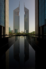 The Emirates towers (Dylan Farrow) Tags: dubai pixelpost flickrpost 450d