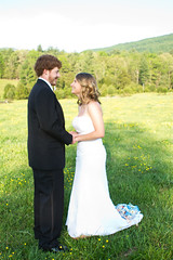Bucky and Danielle Strickler (Erin Ayres Photography) Tags: pictures trees wedding beautiful field barn creek photography groom bride jane erin rustic danielle run rings carl ayres bucky renewal fulks strickler