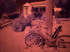 "Outback Silverton - false color infrared with Olympus E-M5 • <a style=""font-size:0.8em;"" href=""http://www.flickr.com/photos/44919156@N00/7273000414/"" target=""_blank"">View on Flickr</a>"