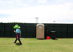Green Hat Sheriff_Gray Whitley_7952 (Gray Whitley [+] photojournal) Tags: fence baseball stadium police sheriff recycling gangs portajohn wilsonnc graywhitley