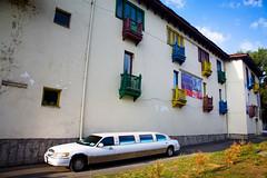 Colorful balconies and limousine (filchist) Tags: old city georgia colorful balconies limousine tbilisi 2010 vitalrecords лимузин тбилиси грузия дворецбракосочетаний разноцветныебалконы