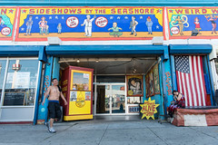 Sideshows (The show is outside too) (PM Breakfast) Tags: park coneyisland amusement funhouse sideshow odc ourdailychallenge
