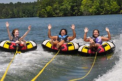 "Girls Just Wanna Have Fun (""On the Rox"") Tags: waterskiing watersports tubing slalom lakemartin slalomcourse"