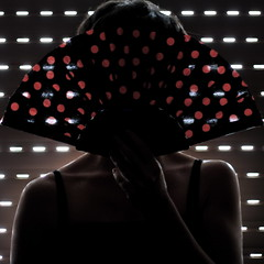 dashes and dots (sonyacita) Tags: red self square fan blinds persianas bsquare