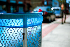Trashy (TerryJohnston) Tags: blue mi trash dumpster downtown dof bokeh michigan grandrapids grap amazingmich canoneos5dmarkiii 5dmarkiii