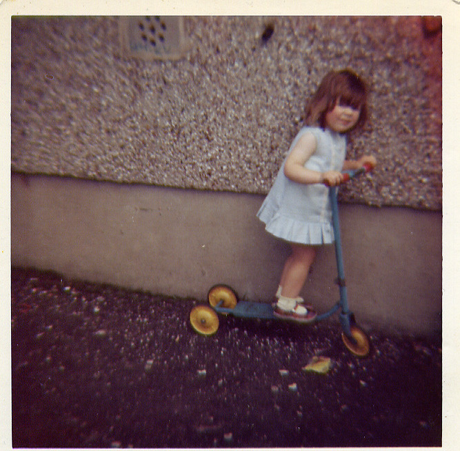 Christine Duffy With Scooter 1960's