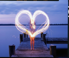 Kate Heart 4x5 Slide, St. Michaels, MD (Shawn Hoke) Tags: longexposure film kate maryland slidefilm sparklers 4x5 stmichaels largeformat lightwriting fujiprovia100 stmichaelsmaryland epsonv500 writingwithsparklers toyo45aii schneider210mmf56 shawnhoke believeinfilm stitchedscans