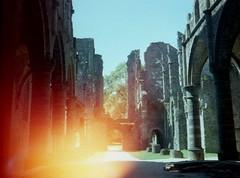 Abbey on Fire 3 (Explored) (Spotmatix) Tags: film abbey architecture countryside belgium places cult villerslaville brabantwallon explored