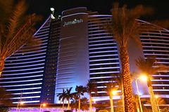 Dubai Jumeirah Hotel (Mathias Apitz (München)) Tags: road car museum marina mall gold aquarium al dubai bur yacht united grand mosque emirates zayed khalifa arab souk abu dhabi mathias emirate deira sheik jumeirah dhow burj maybach moschee etihad vereinigte arabische apitz