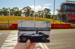 Bill Pitt racing at Mount Panorama, Bathurst - October 1956 (Carolyn's Memories) Tags: racing vehicles nsw bathurst motorracing sportscar sportscars 2795 mountpanorama thendate1970 abcopen:project=nat2 billpitt