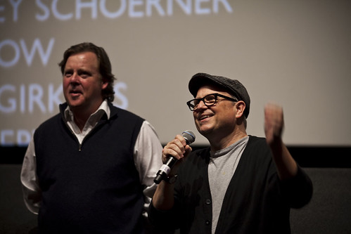 Bobcat Goldthwait and Joel Murray at the Q&A for God Bless America at the Cineworld