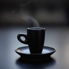 steam (klodid) Tags: black cup coffee backlight canon steam 5dmkii