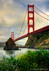 Guardian of the Gate (James Neeley) Tags: california landscape goldengatebridge handheld sanfransico hdr 5xp jamesneeley
