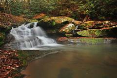 Another one from Broke Leg. . . (John P.C.) Tags: park autumn tree fall nature leaves rock creek canon waterfall leaf stream kentucky ky boulder falls wellington cascade menifee brokeleg dbnf