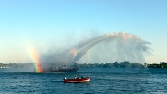 Water Dragon (Martin Chang Photography) Tags: sunset ontario canada water boat nikon harbourfront canadaday firerescue TGAM:photodesk=landscapes2012