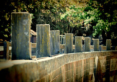 Posted (LeftCoastKenny) Tags: pen fence lomo repetition posts
