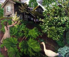 Astrup, Nikolai (1880-1928) - Natlys, Rabarbra, Gs og Hgg (RasMarley) Tags: tree animal landscape child goose norwegian painter 20thcentury rhubarb astrup neoromantic nikolaiastrup natlysrabarbragasoghaegg