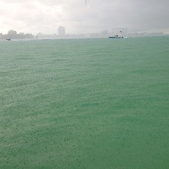 Rain on a boat! (miamism) Tags: rain square miami squareformat boating haulover miamisky miamiboating iphoneography hauloversandbar instagramapp uploaded:by=instagram