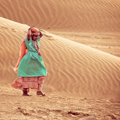 Desert Rose (Ania.Photography-busy) Tags: travel india color girl beautiful sand child desert dune jaisalmer traditionaldress indianculture rjasthan