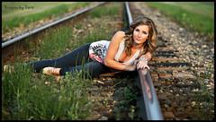 Bailey (Tara Ruptash) Tags: color girl beauty model traintracks