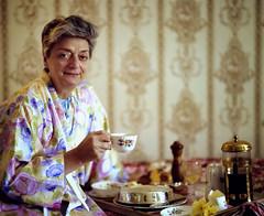 my mom having morning coffee in the lake district (jody9) Tags: england mediumformat mom 1983 pentax67 sharrowbay havingmorningcoffee
