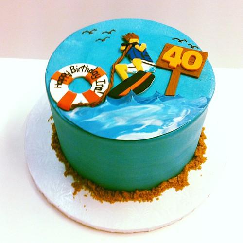 Remarkable Wake Boarding Birthday Cake Austin Customcake A Photo On Funny Birthday Cards Online Necthendildamsfinfo