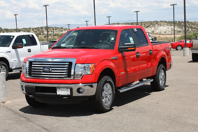 red ford truck 4x4 pickup f150 2012 xlt supercrew