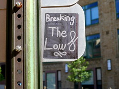 Breaking The Law (-Curly-) Tags: streetart art graffiti sticker stickerart curly