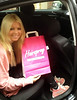 Hollywood actress Tara Reid stops by the Hairspray store on Wicklow Street and has an 18 inch blonde human hair clip fitted in-store while a chauffeur driven car waits outside Dublin, Ireland